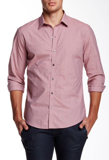 Imbracaminte Barbati Zachary Prell Macaluso Long Sleeve Trim Fit Shirt LIGHT BRICK