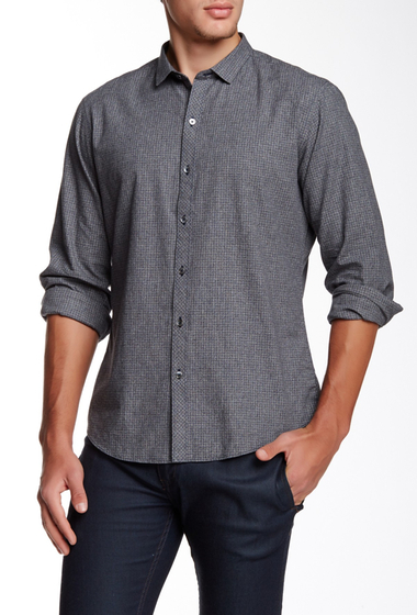 Imbracaminte Barbati Zachary Prell Rudy Checkered Long Sleeve Shirt CHARCOAL