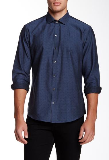 Imbracaminte Barbati Zachary Prell Hale Printed Long Sleeve Shirt NAVY