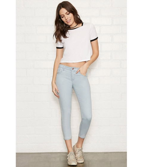 Imbracaminte Femei Forever21 The Beverly Low Rise Jean Light blue