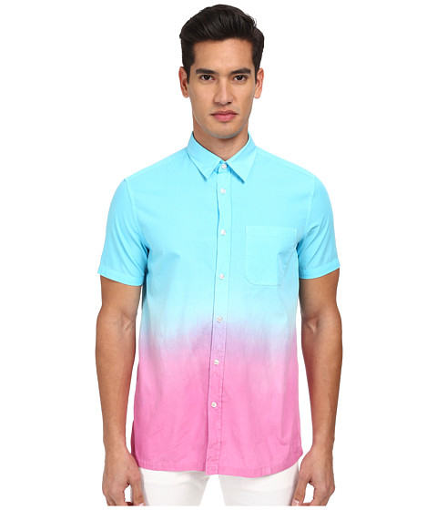 Imbracaminte Barbati LOVE Moschino Ombre Short Sleeve Button-Up Shirt BlueYellow