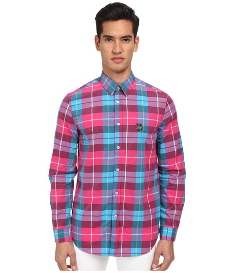 Imbracaminte Barbati LOVE Moschino Plaid Long Sleeve Button-Up Shirt BluePink
