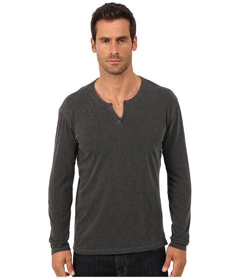 Imbracaminte Barbati Lucky Brand Long Sleeve Notch Neck Tee Black Mountain