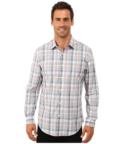 Imbracaminte Barbati Perry Ellis Long Sleeve Multicolor Plaid Shirt Faded Denim