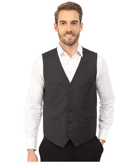 Imbracaminte Barbati Perry Ellis Slim Fit Pattern Vest Charcoal
