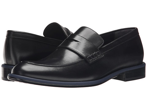 Incaltaminte Barbati Viktor Rolf Calf Leather Loafer with Contrast Piping Black