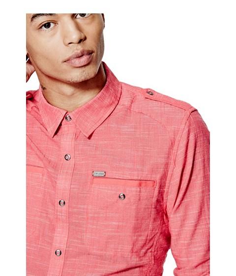 Imbracaminte Barbati GUESS Caber Chambray Shirt summer love pink