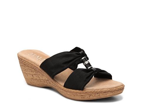 Incaltaminte Femei Italian Shoemakers Duchess Wedge Sandal Black