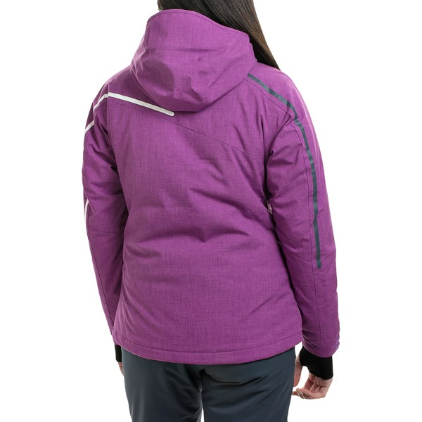 Echipament-sportiv Femei Rossignol Fairy Heather Ski Jacket - Waterproof Insulated BLACK (01)