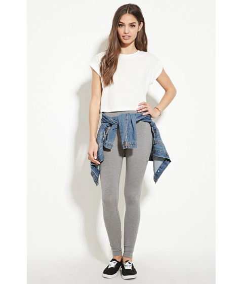 Imbracaminte Femei Forever21 Heathered Knit Leggings Heather grey