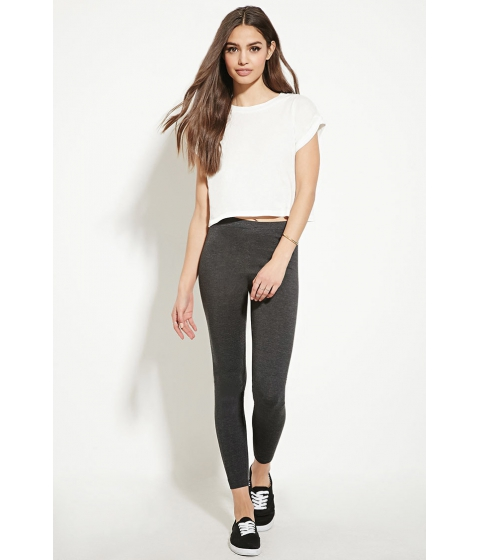 Imbracaminte Femei Forever21 Heathered Knit Leggings Charcoal heather