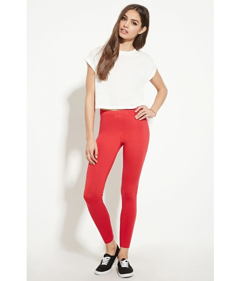 Imbracaminte Femei Forever21 Heathered Knit Leggings Red