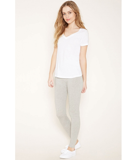 Imbracaminte Femei Forever21 Heathered Knit Leggings Light heather grey