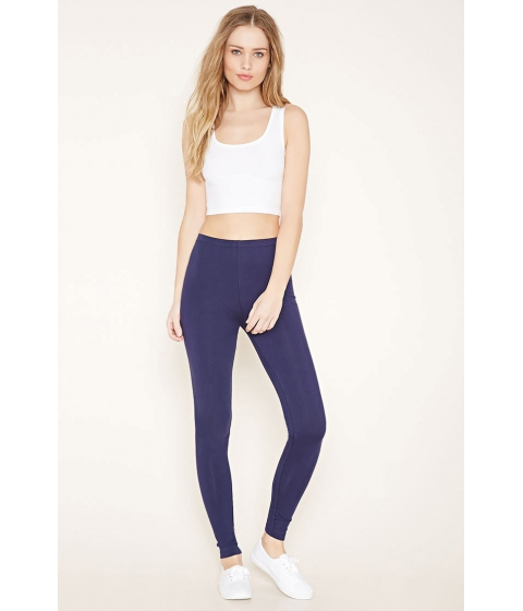 Imbracaminte Femei Forever21 Heathered Knit Leggings Navy