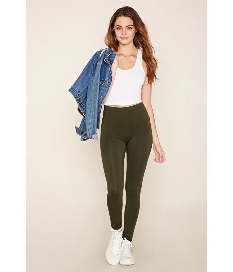 Imbracaminte Femei Forever21 Heathered Knit Leggings Olive