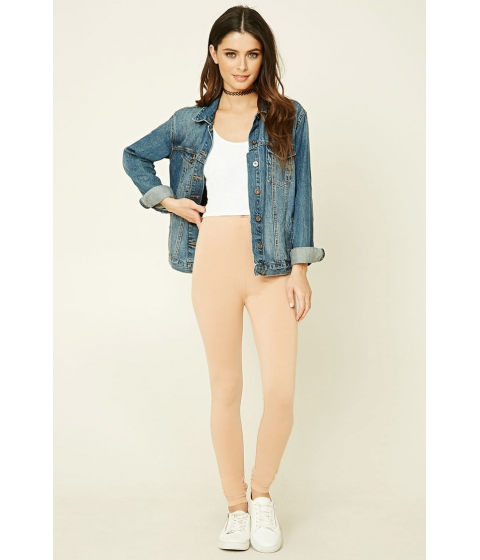 Imbracaminte Femei Forever21 Heathered Knit Leggings Nude