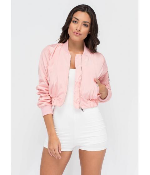 Imbracaminte Femei CheapChic Cream Of The Crop Bomber Jacket Pink