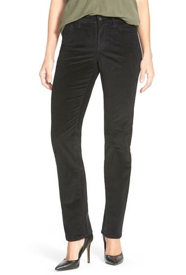 Imbracaminte Femei NYDJ Marilyn Stretch Straight Leg Slim Fit Corduroy Pants BLACK