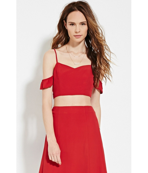 Imbracaminte Femei Forever21 Contemporary Cami Crop Top Red