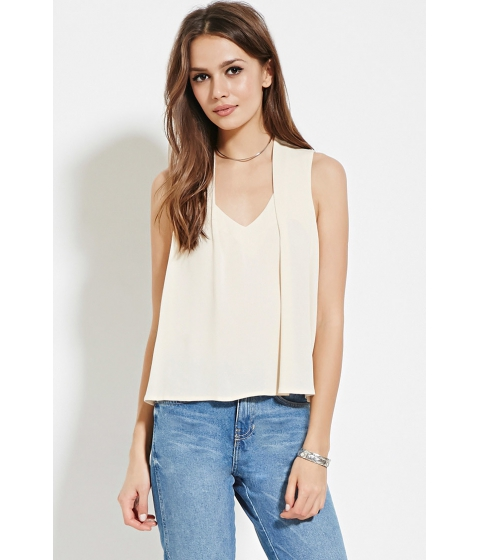 Imbracaminte Femei Forever21 Contemporary Pleat-Shoulder Top Vanilla