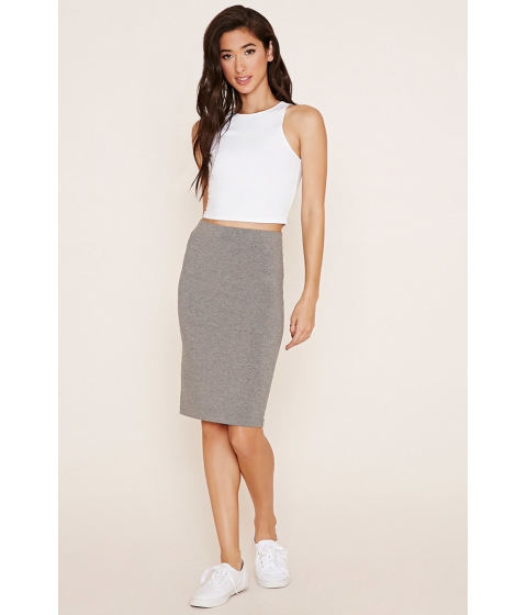 Imbracaminte Femei Forever21 Cotton-Blend Pencil Skirt Heather grey