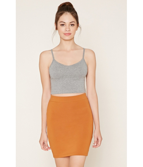 Imbracaminte Femei Forever21 Cotton-Blend Pencil Skirt Amber