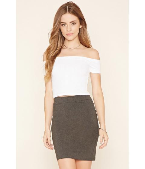 Imbracaminte Femei Forever21 Cotton-Blend Pencil Skirt Charcoal