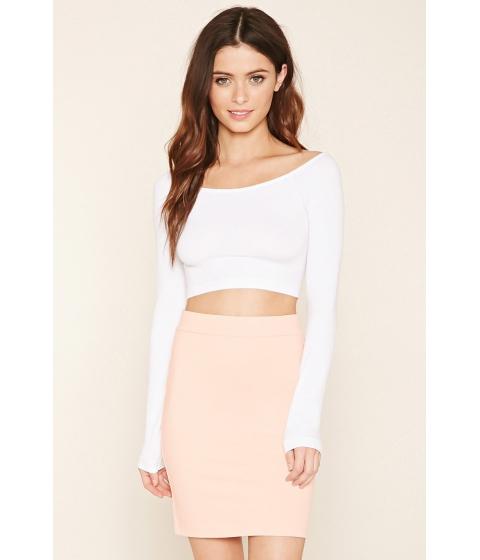Imbracaminte Femei Forever21 Cotton-Blend Pencil Skirt Peach bud