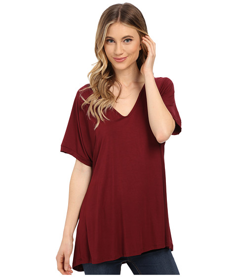 Imbracaminte Femei Culture Phit Viola Modal Short Sleeve Top Wine