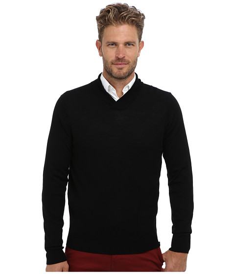 Imbracaminte Barbati Culture Phit 100 Merino High Shawl Crew Sweater Black