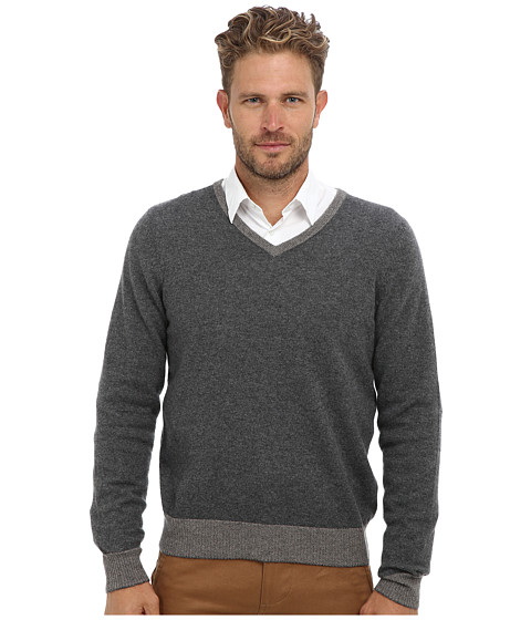 Imbracaminte Barbati Culture Phit 100 Cashmere David V-Neck Sweater Derby Combo