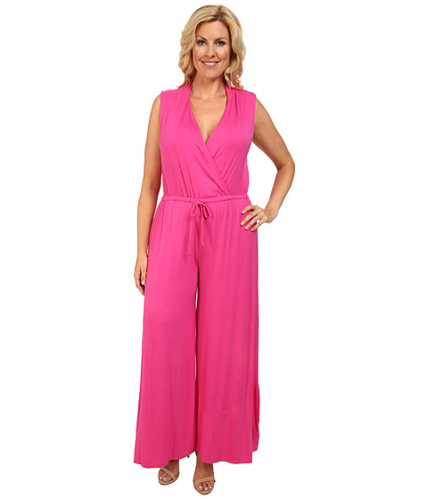 Imbracaminte Femei Culture Phit Plus Size Danielle Wrap Romper Fuchsia