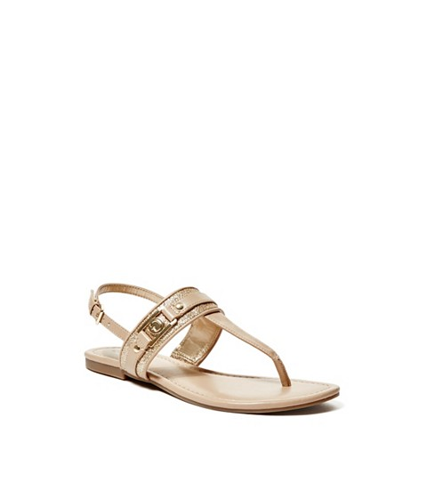 Incaltaminte Femei GUESS Sahar Sandals gold multi texture