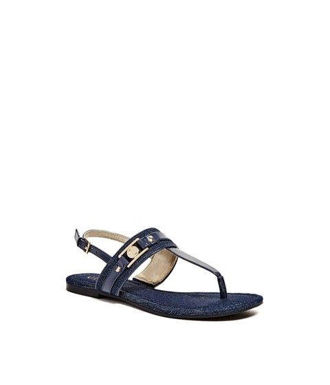 Incaltaminte Femei GUESS Sahar Denim Sandals blue multi fabric