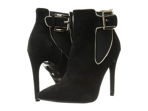 Incaltaminte Femei Just Cavalli High Heel Ankle Boot w Piping Black
