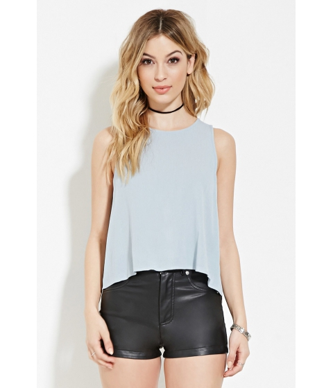 Imbracaminte Femei Forever21 Crinkled Gauze Top Dusty blue