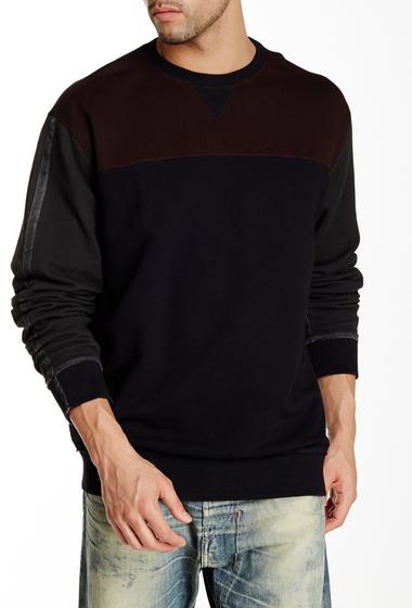 Imbracaminte Barbati Diesel Anele Colorblock Sweatshirt BLK-BRN