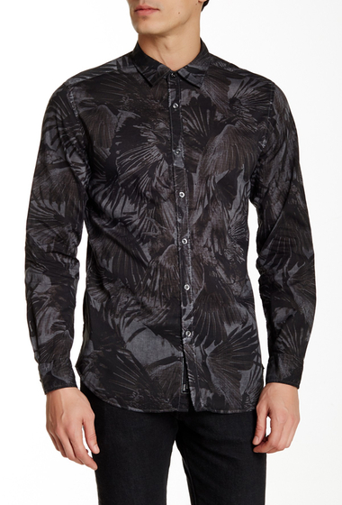 Imbracaminte Barbati Diesel Vilas Printed Long Sleeve Shirt GREY