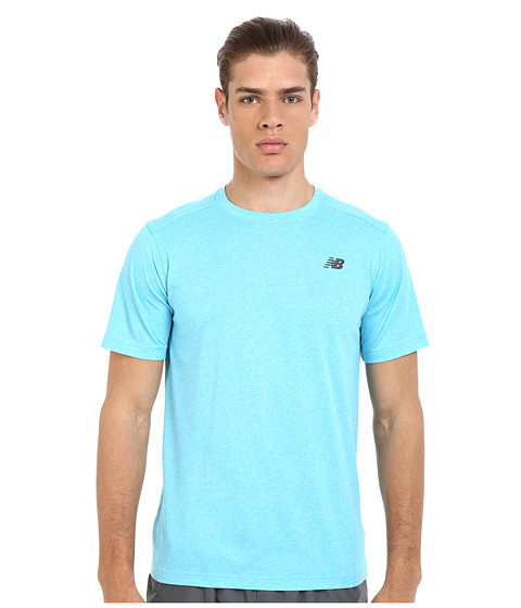 Imbracaminte Barbati New Balance Short Sleeve Heather Tech Tee Bayside Heather