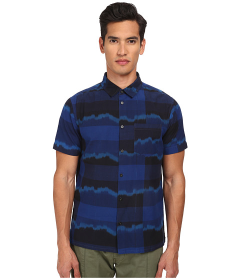 Imbracaminte Barbati Marc by Marc Jacobs Ikat Plaid Short Sleeve Shirting Marine Blue Multi