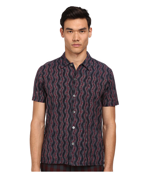 Imbracaminte Barbati Marc by Marc Jacobs Electric Ikat Short Sleeve Shirt Gunmetal Multi