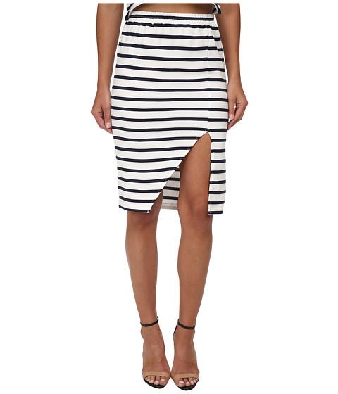 Imbracaminte Femei MINKPINK Stripe Maxi Split Skirt NavyWhite