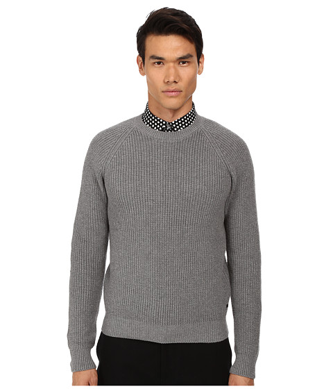 Imbracaminte Barbati Marc by Marc Jacobs Fisherman Rib Sweater Grey Melange Multi