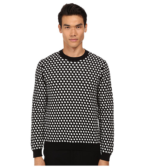 Imbracaminte Barbati Marc by Marc Jacobs Shield Jacquard Sweater Chalk White Multi