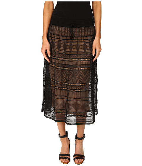 Imbracaminte Femei Missoni Fancy Ribbon Knit Knee Length Skirt Black