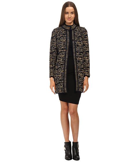 Imbracaminte Femei Missoni Knit Tweed Topper Coat Gold