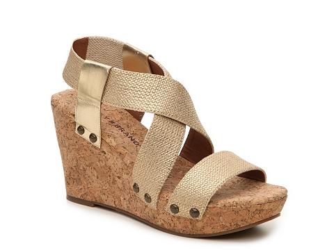 Incaltaminte Femei Lucky Brand Marla Wedge Sandal Gold