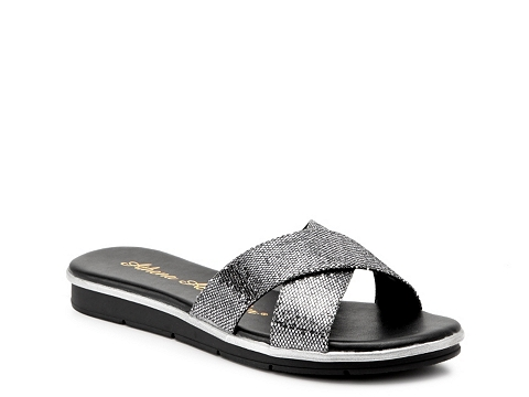 Incaltaminte Femei Athena Alexander Tempo Glitter Wedge Sandal Pewter