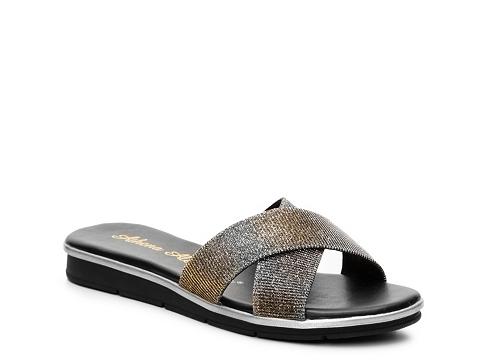 Incaltaminte Femei Athena Alexander Tempo Mesh Wedge Sandal Gold