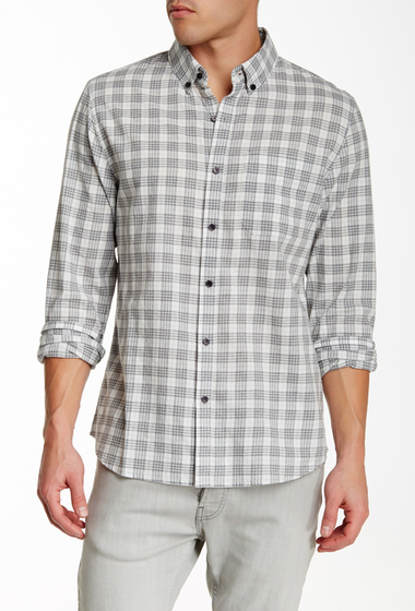 Imbracaminte Barbati Front Street James Plaid Long Sleeve Trim Fit Shirt GREY